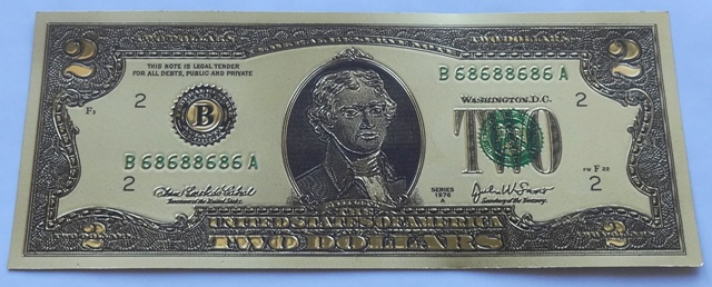 2 Dollars - USD (USA) / 1976 F (pozlaceno) / * 0/0
