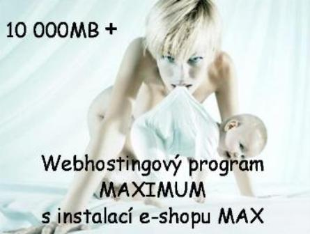 Webhostingový program MAXIMUM s instalací e-shopu MAX / rok
