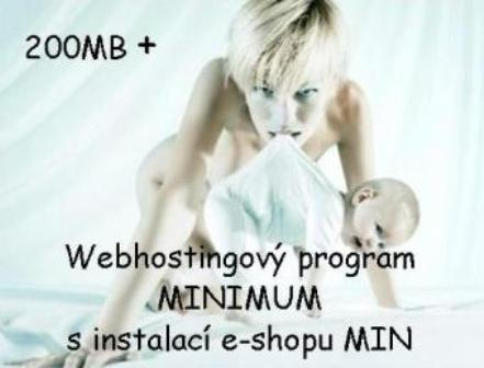 Webhostingový program MINIMUM s instalací e-shopu MIN / rok