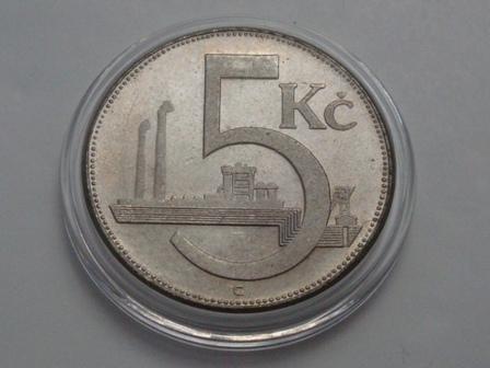 5 Korun (ČSR) / 1937 RRRR F / * 0/0 270,- Kč / sidap e-shop